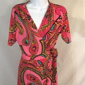 Lilly Pulitzer Pink Print Wrap Dress